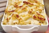BAKED RIGATONI WITH HAM and FOUR CHEESES
