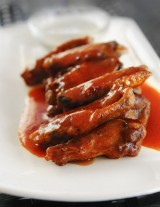 Wings with a Maple Bourbon Glaze