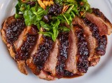 DUCK BREAST with CRANBERRY CABERNET SAUCE