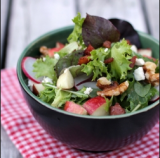 MIXED GREENS WITH APPLE-WALNUT VINAIGRETTE