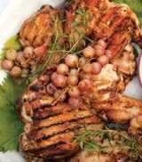 GRILLED LEMON ROSEMARY BRICK CHICKEN