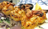 GRILLED GREEK SHRIMP in OUZO